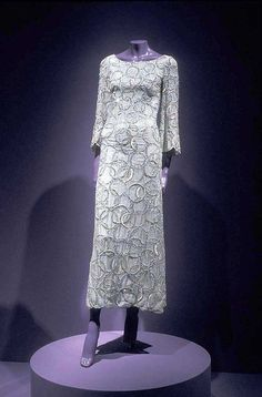 Silk organza evening dress about 1965.  from the Indianapolis Museum of Art