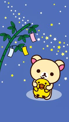 Rilakkuma, Sanrio Wallpaper, Iphone Wallpaper, Rilakuma Wallpapers, Wallpaper Fofos, Kawaii Background, Tumblr Couples, Old Cartoons, Baby Chicks