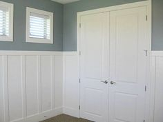 LEC Cabinets: Board & Batten Wainscoting board and batten wainscoting Beadboard Wainscoting, Wainscoting Styles, Wood Panel Walls, Wood Paneling, Paneled Walls, Wanes Coating, Board And Batten, Bathroom Styling, Cottage Style
