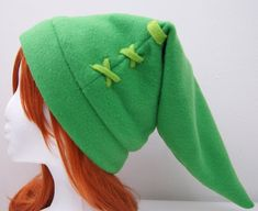 Link - Green - Fleece Twilight Princess Legend of Zelda Cosplay Hat from The Bunny Cafe · Storenvy