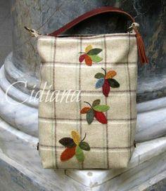 Cidiana: Bolso viajero en lanas.