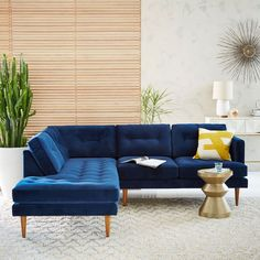 West Elm offers modern furniture and home decor featuring inspiring designs and colors. Create a stylish space with home accessories from West Elm. Living Room Sofa, Home Living Room, Living Room Designs, Living Room Decor, Dining Room, Sofa Design, Canapé Design, Modern Design, Mid Century Couch