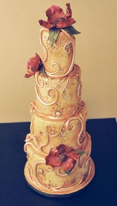 Art Nouveau Fondant by White Flower Cake Shoppe - love it! With different flowers