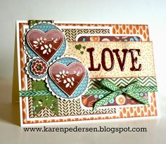 Autumn Love Card with Mojo Monday