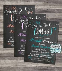 Bridal Shower invitation Soon to be Mrs. by DazzleDesignGraphics