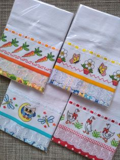 Fabric Painting, Cross Stitch Embroidery, Napkins, Patches, Diy, House, Dish Towel Crafts, Crochet Dishcloths, Bathroom Crafts