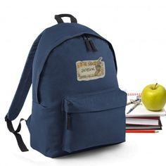 Skateboard Personalised Navy Backpack