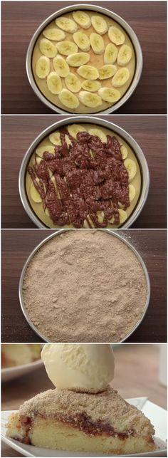 ESSA É A MELHOR TORTA DE BANANA QUE EXISTE! Confira a receita, você vai AMAR! (veja o passo a passo) #torta #banana #tortadebanana