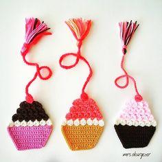 #cupcakes #bookmark #kitapayracı #kitapayraci #crochet #örgü #tığişi #gramorgu #sweet #instacrochet