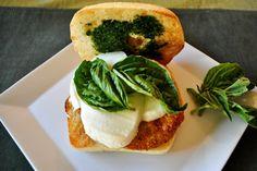 Fried green tomato caprese sandwich recipe