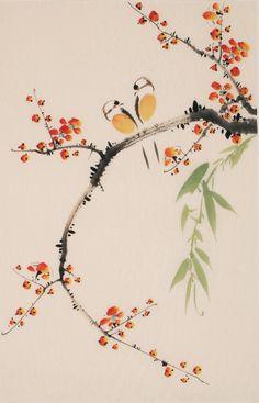 Chinese birds paintings