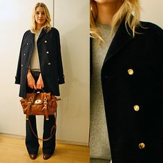Coat Whistles, jeans J Brand, sweater Isabel Marant, bag Mulberry