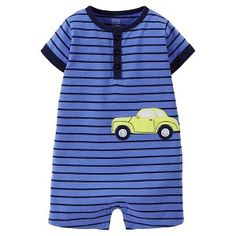 Just One You™Made by Carter's® Newborn Boys' Striped Car Romper Boy Or Girl, Baby Boy, Target Baby, My Boys, Rompers, Newborn Boys, Mens Tops, Adam Lee, Future Boy