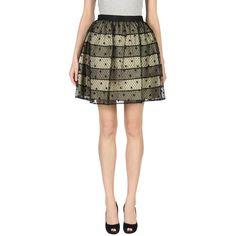 Redvalentino Knee Length Skirt ($146) ❤ liked on Polyvore featuring skirts, black, zip skirt, zipper skirt, knee length skirts, red valentino and knee high skirts