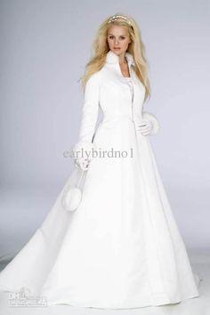 Faux Fur winter wedding dress