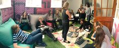 Our meeting is an indoor picnic. Amazing. #lifeatbenefit.