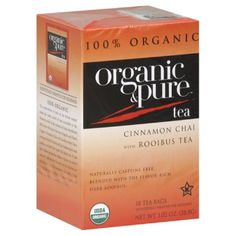 Organic and Pure Cinnamon Chai Rooibos Herb Tea, (Pack of Rooibos Chai, Buy Tea, Coffee Store, Chamomile Tea, Herbal Tea, Kombucha, Note, Drinking Tea, Gourmet Recipes