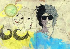 #illustration #couple #cancer #art #draw #watercolour #surealism Watercolour, Cancer, Draw, Couple, Illustration, Watercolor, Watercolor Painting, To Draw, Illustrations