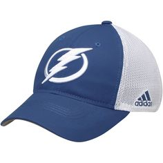 595f5a99fab Men s Tampa Bay Lightning adidas Blue White On Ice Meshback Slouch Flex Hat