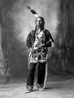 Chas Baddle - Otoe - Omaha tribe - Photo by Frank A. Rinehart, on the occasion of The Indian Congress occurred in conjunction with the Trans-Mississippi International Exposition of 1898, in Omaha, Nebraska, USA - (B/w copy)
