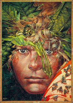 Lord of the Flies cover illustration, 1980 reissue, Barron Storey – This guy taught and/or influenced a generation (or two or three) of illustrators. Some of my faves were under his tutelage: Jack Unruh and Bill Sienkewicz.