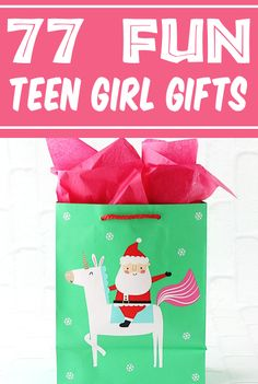 Christmas Gift Ideas for Teenage Girl! Teens & Tweens can be so tricky to find gifts for, but this HUGE list of the most popular ideas this year will make it a breeze! Here's what she REALLY wants... Teenage Girl Gifts Christmas, Teen Girl Gifts, Best White Elephant Gifts, Itunes Gift Cards, Starbucks Gift Card, Best Stocking Stuffers, Jar Gifts, Cat Lover Gifts