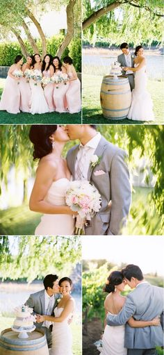 Jenna! Not sure if you still wanted the light grey tuxes for the guys but I think it looks really good with blush :)