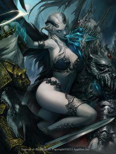 Artist: Jung Myung Lee aka rupid79 - Title: rojia - Card: Ilmgart, Bane of Good & Evil