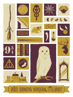 Harry Potter Hogwarts Wizard Poster Art Print von jefflangevin, $15.00