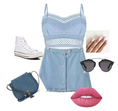 """Day out in Cardiff"" by niamh-taylor-i ❤ liked on Polyvore featuring Lipsy, Chicnova Fashion, Nanette Lepore, Christian Dior, Lime Crime and Converse"