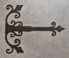 Old California Hacienda iron hinge strap has a Mediterranean flair and appeals to early California ranches and old adobe homes