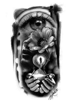 (notitle) - Dövme - Tattoo Designs For Women Skull Tattoos, Body Art Tattoos, Sleeve Tattoos, Cool Tattoos, Tattoo Sketches, Tattoo Drawings, Tatoo Manga, Dibujos Tattoo, Full Sleeve Tattoo Design