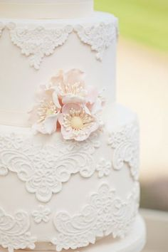 Beautiful vintage lace cake.