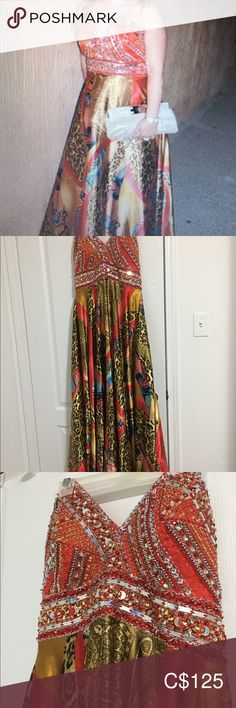 Multicoloured evening dress Rica design size 14 worn once Riva Designs Dresses Prom Evening Dresses, Prom Dresses, Prom Colors, Plus Fashion, Fashion Tips, Fashion Trends, Tie Dye Skirt, Designer Dresses, Size 14