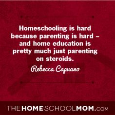 TheHomeSchoolMom Blog: What to tell yourself when you are ready to quit homeschooling