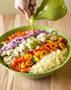 #HealthyRecipe // Tequila Lime Chicken Salad with Avocado Lime Dressing