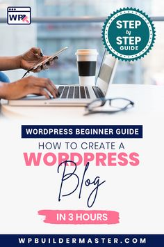 Starting your own blog today by following this step by step guide. This guide shows how to create a WordPress website / blog for beginners in 3 hours. #wordpressforbeginners #wordpresstutorial #wordpressblog #createawebsite