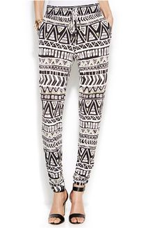 INC International Concepts Printed Tapered-Leg Soft Pants