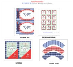 NAUTICAL Birthday Party or Baby Shower printable package