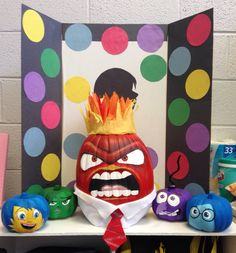 Inside Out - Anger - pumpkin decorating contest at school