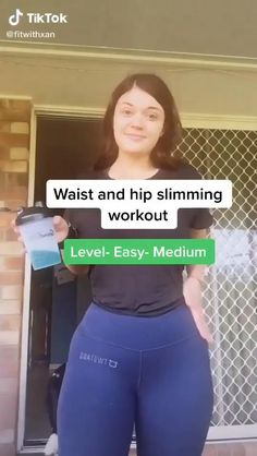 Fitness Workouts, Summer Body Workouts, Full Body Gym Workout, Slim Waist Workout, Gym Workout Videos, Gym Workout For Beginners, Fitness Workout For Women, Sport Fitness, Hip Workout