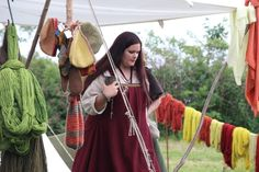 Vikingsnitt - loving finding women in viking garb that are not size 0. More of this to come. <3