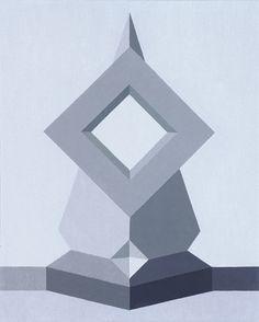 Opus CCCIII 1997,oil on canvas,55x45 cm. Foundation Collection Saffaro,Bologna.