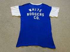 Vintage 1930s 40s Bob Russell  WHITE RODGERS CO Sports Baseball Jersey T-Shirt L #BobRussellINCStLouisMO #BaseballJerseyTShirt