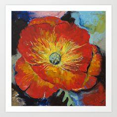 Poppy Art Print by Michael Creese - $22.88