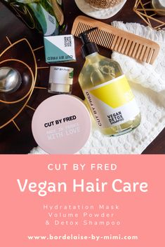 Cut By Fred - Shampoing Detox & Masque Hydratant Detox Shampoo, Vegan Cuts, Organic Beauty, Hair Care, Personal Care, Wash Hair, Hair Products, Glass Vials, Hydrating Mask