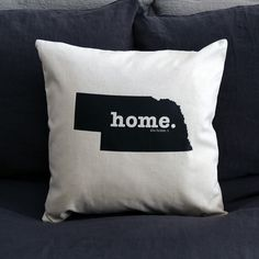 The Nebraska Home Pillow Cover is the perfect way to show off your state pride in your home, while also helping to raise money for multiple sclerosis research.This elegant 18 x 18 pillow cover is made out of a high-quality oatmeal linen fabric that is extremely versatile. You