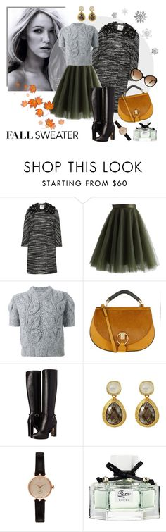 """""""Last days of autumn"""" by molnijax ❤ liked on Polyvore featuring Milly, Chicwish, Maison Margiela, Chloé, Burberry, Barbour, Gucci and Tod's"""