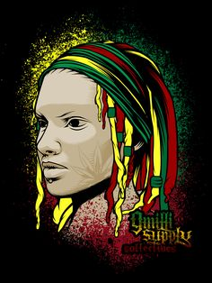 Artist: Paulo Tria aka Flick Picasso Title: Rasta Lady Work done for 9 Milli Supply Collective