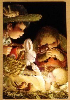 Ferrandiz - Ilustración tarjeta de felicitación navideña
